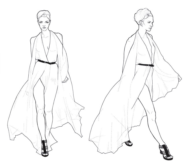 Line Art Fashion : Fashion illustration good