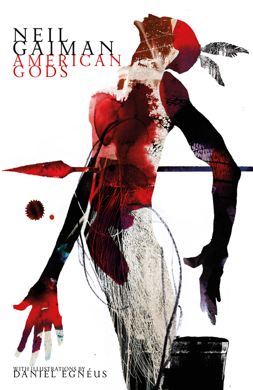 Book Cover With Illustration : Daniel egneus neil gaiman s american gods collection