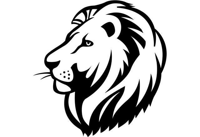 Lion logo illustrated by John Woodcock