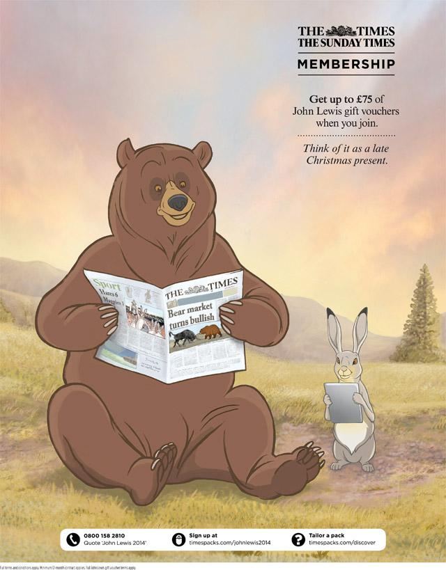 Bear and Hare John Lewis Advert Bob Venables